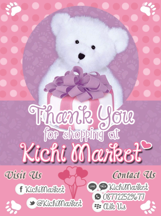 Kichi Market Thank You Card (Design By @AjieKurnia)